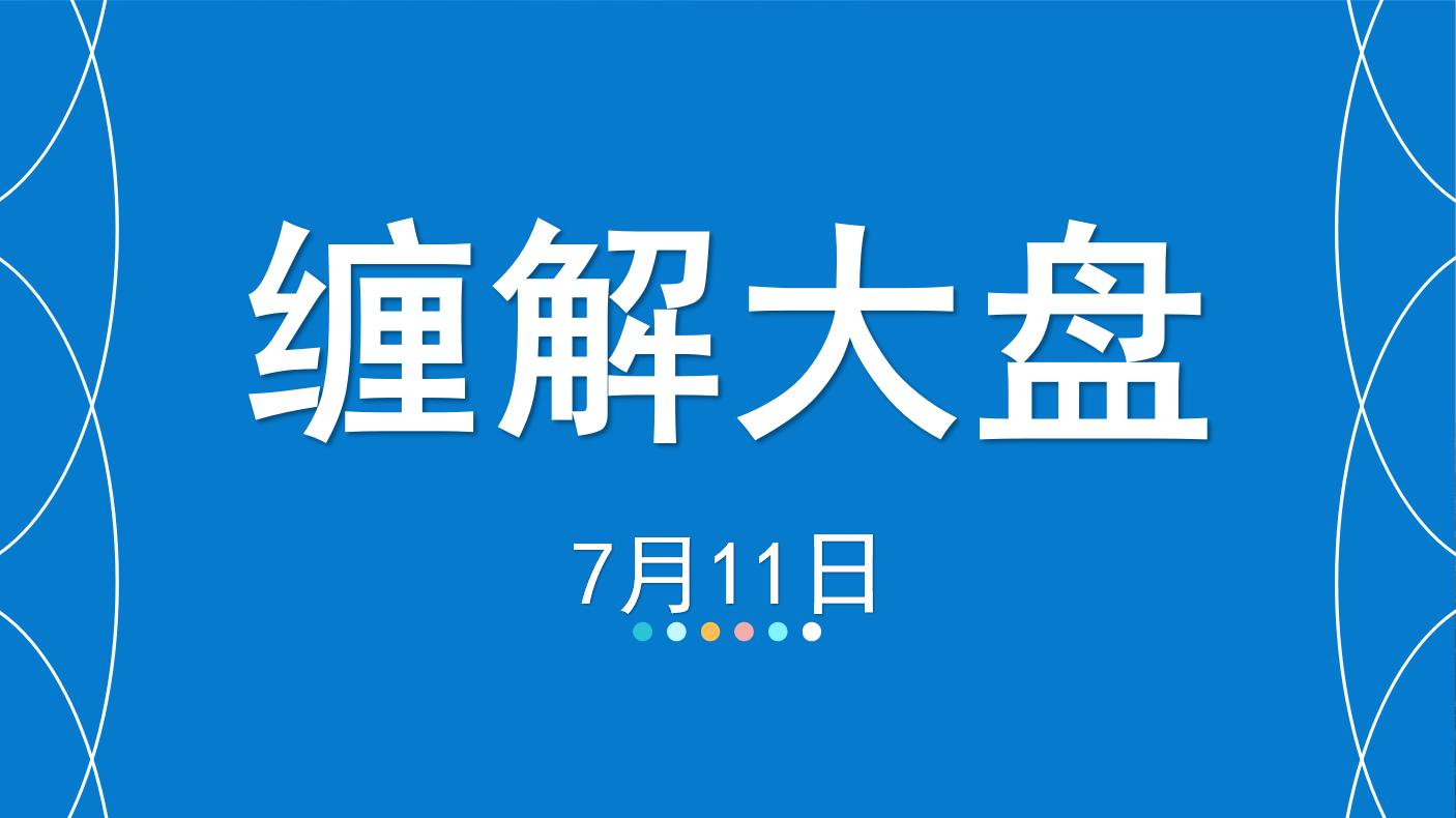 【嘉可能】7月11日缠解大盘,中报行情反