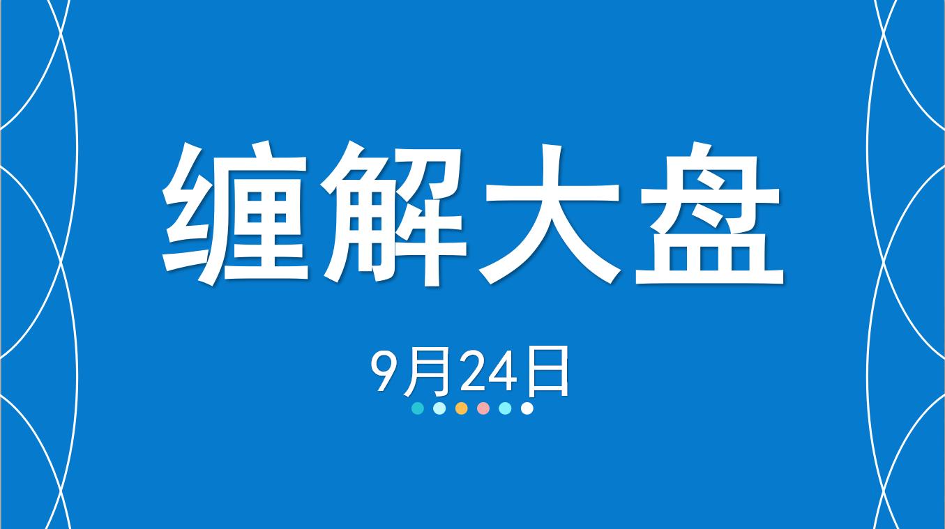 【嘉可能】9月24日缠论解大盘,缠论交易