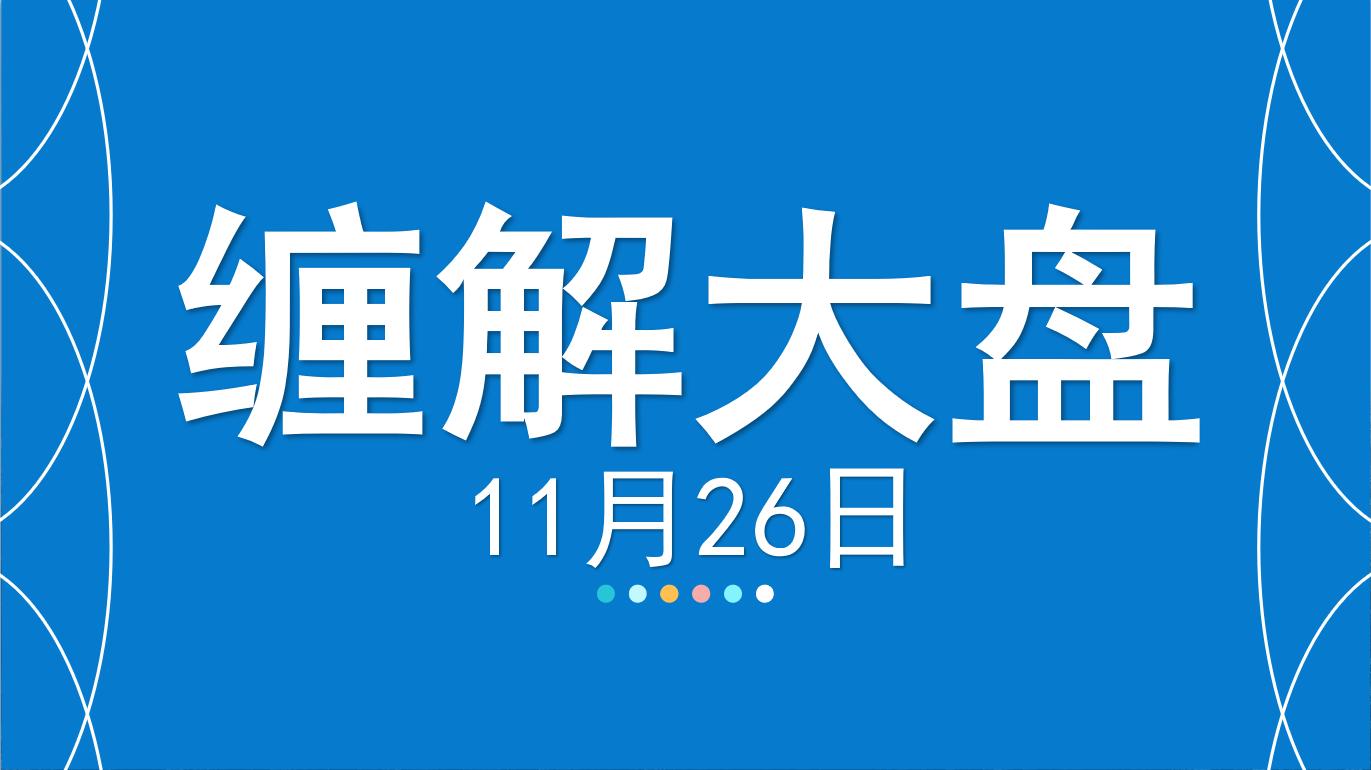 【嘉可能缠论】股票分析11.26缠解大盘