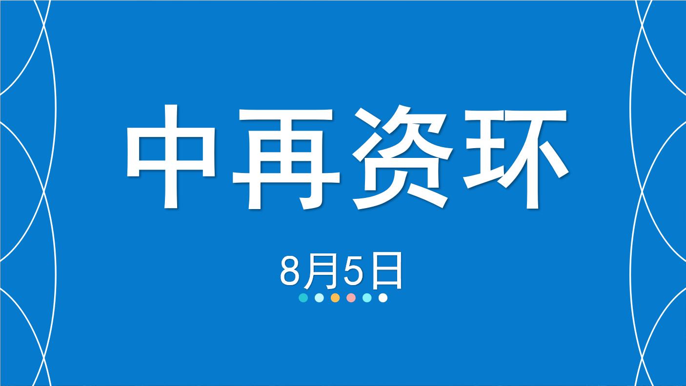 【缠论】8月5日中再资环,缠论交易体系缠