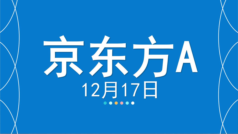 股票分析:嘉可能股票12.17京东方A